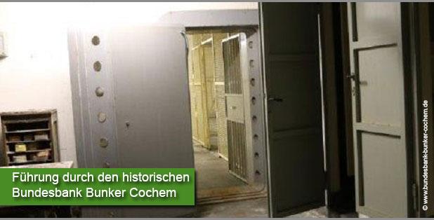 Führung durch den historischen Bundesbank Bunker Cochem