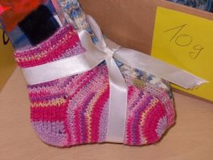 Socken stricken mit einer Rundnadel